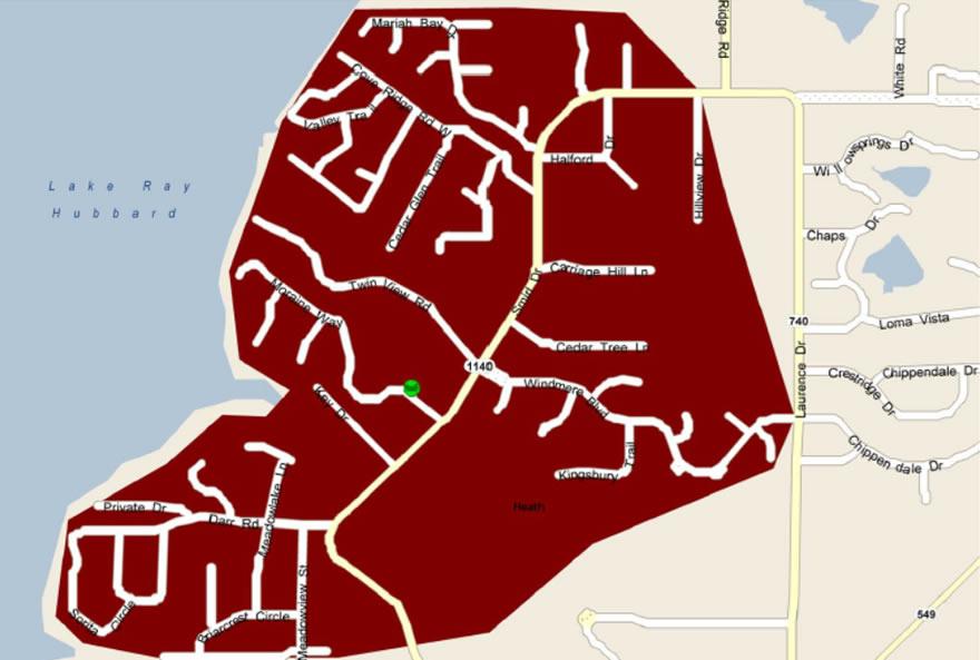 Mosquito Spray Area Map
