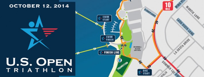 US Open Tri Map