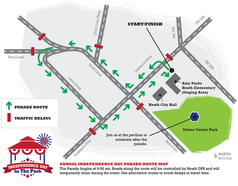 2015 Independence Day In The Park Parade Route