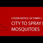 Mosquito Spraying 10/07/15