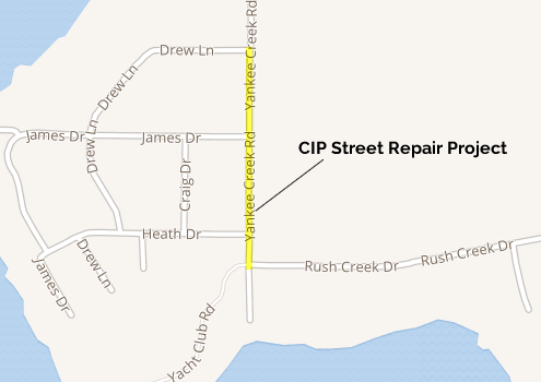 CIP Road Repair Yankee Creek